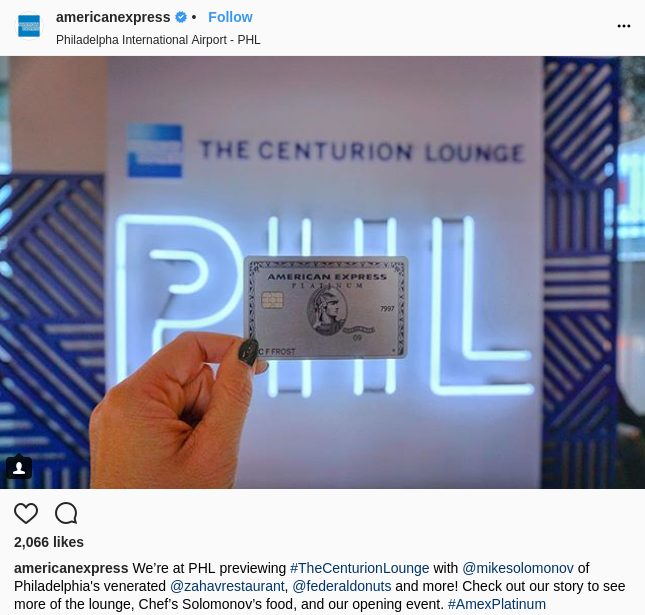 amex instagram campaign